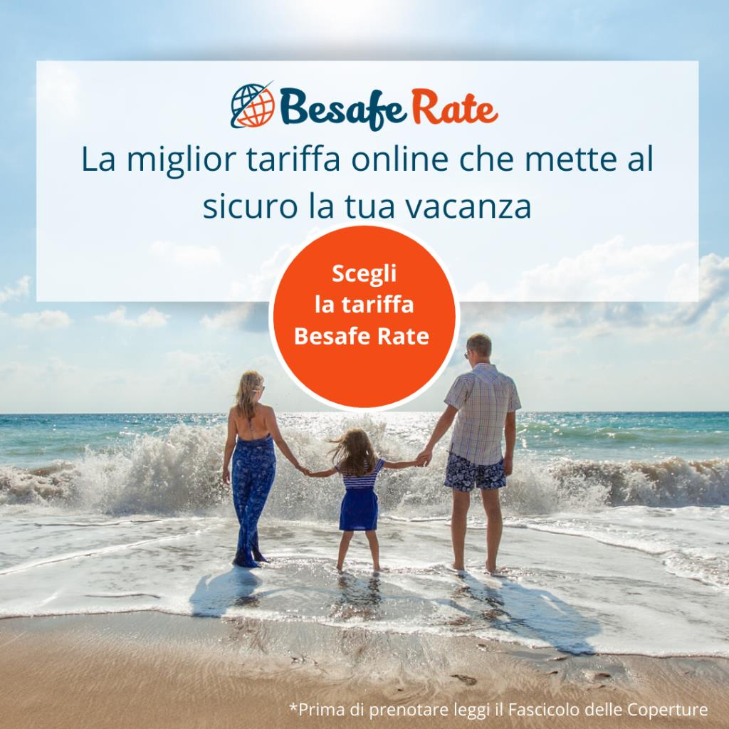 Be safe Rate: the prepaid rate with Insurance included