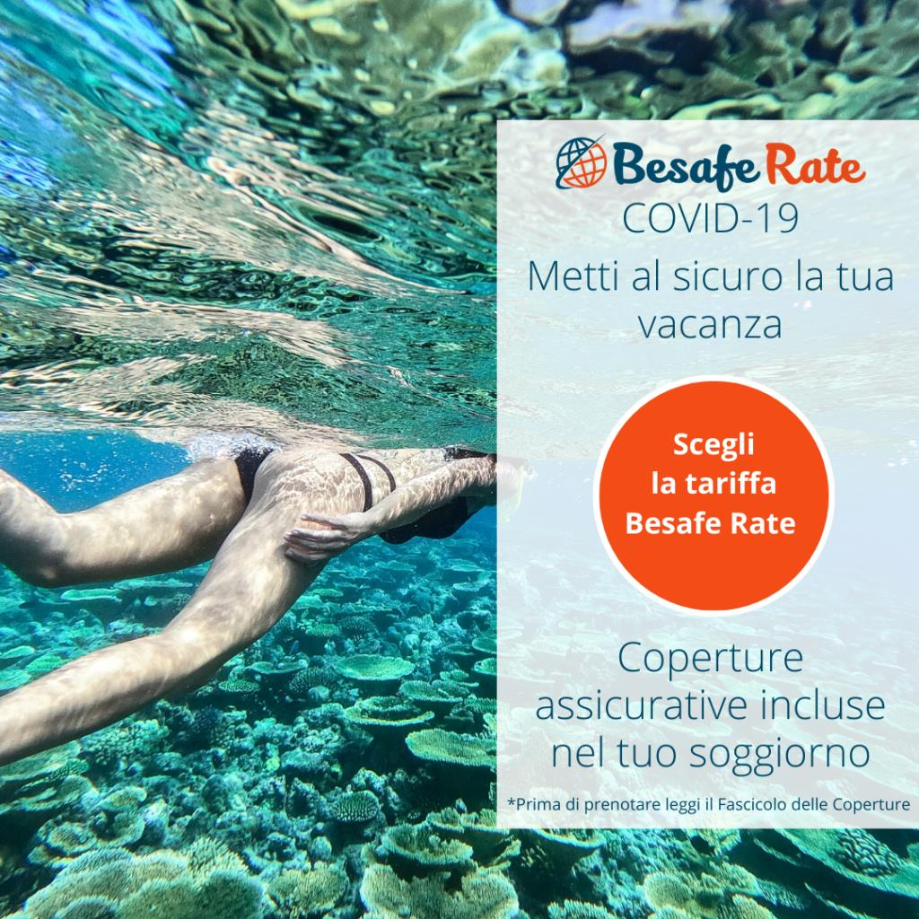 Be safe Rate: the prepaid rate with Beach service and  Insurance included